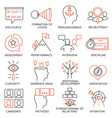 Set of icons related to business management - 24 vector image vector image