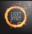 shining circle light effect design vector image vector image