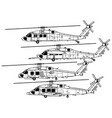 sikorsky uh-60 black hawk vector image