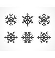 snowflakes line set gray color vector image vector image
