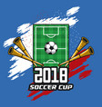 soccer cup concept vector image