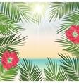 Summer Time Palm Leaf Background vector image vector image
