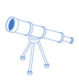 telescope isolated shameful tube on stand vector image vector image