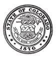 the seal of colorado 1876 the seal shows the eye vector image vector image