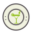 tropical cocktail drink icon vector image