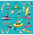 Water Sport And Activities Set vector image vector image