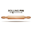 wooden rolling pin bakery concept vector image vector image