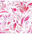 Watercolor pink floral seamless vector image