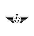 Football or soccer ball mockup sport logo design vector image