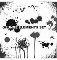 grunge elements blots and splashes vector image