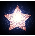 Retro star glowing light banner Award shiny vector image