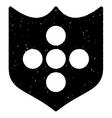 Shield Grainy Texture Icon vector image