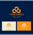 3 bagels logo bakery and pastry emblem vector image