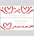 a set of two seamless valentine cards vector image vector image
