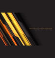 abstract yellow orange grey cyber geometric line vector image vector image
