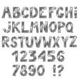 awesome metallic alphabet isolated on white vector image