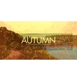 banner with autumn landscape vector image