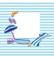 beach summer accessories vector image vector image