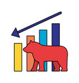 bear downtrend stock market symbol vector image