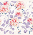 beautiful seamless wallpaper with flowers on a vector image vector image