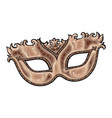 beautifully decorated golden venetian carnival vector image