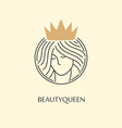 beauty and fashion queen logo design vector image vector image