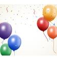 Birthday balloon with confetti vector image vector image