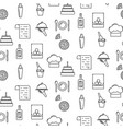 bistro line icon seamless pattern vector image vector image