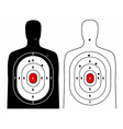 Black and white human target vector image vector image