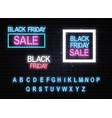 black friday neon vector image vector image