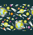 black space multi-colored pattern seamless vector image