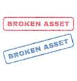 broken asset textile stamps vector image vector image