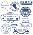 Burlington county New Jersey stamps and seals vector image vector image