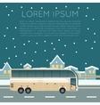 Bus trip banner vector image vector image
