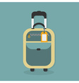 Carry on luggage icon with hanging travel tag vector image vector image