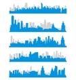 city skylines vector image