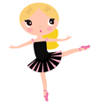 Cute posing beautiful black Ballerina girl vector image