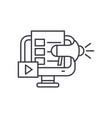 digital marketing line icon concept digital vector image vector image