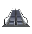 Double realistic escalator isolated on the vector image vector image