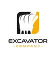 excavator engine repair logo design vector image