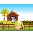Farm with animal vector image