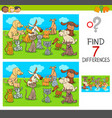 find differences game with pets animals vector image vector image