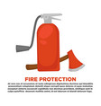 fire protection information and firefighting vector image vector image