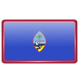 Flags Guam in the form of a magnet on refrigerator vector image vector image