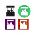 Food kiosk icon vector image