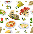 food of italy cuisine of different vector image vector image