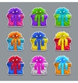 Funny cartoon colorful gift boxes set vector image