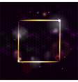 Glowing border background vector image vector image
