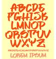 Graffiti font - Hand written - alphabet vector image vector image