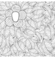 hand drawn seamless pattern with leaf and vector image vector image